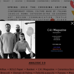 C 41 Magazine Presents issue 2</br>Preview at Italianism in Rome