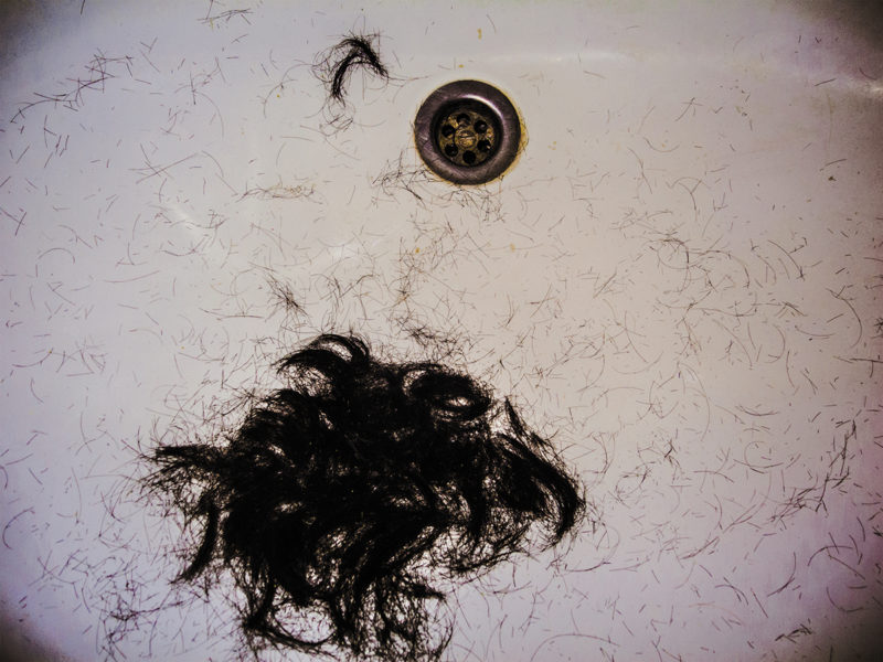 Black Hair In The SInk