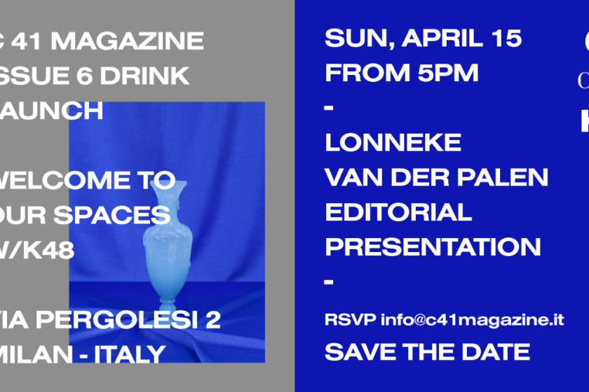 C 41 Magazine Issue 6 Drink Save The Date 2