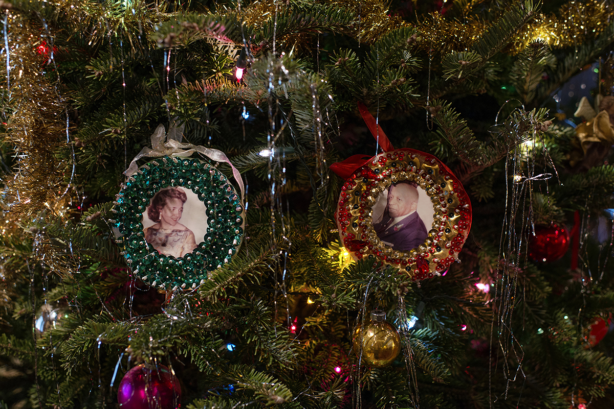 Mother And Father Divine Ornaments For American Christmas.Kristin Bedford