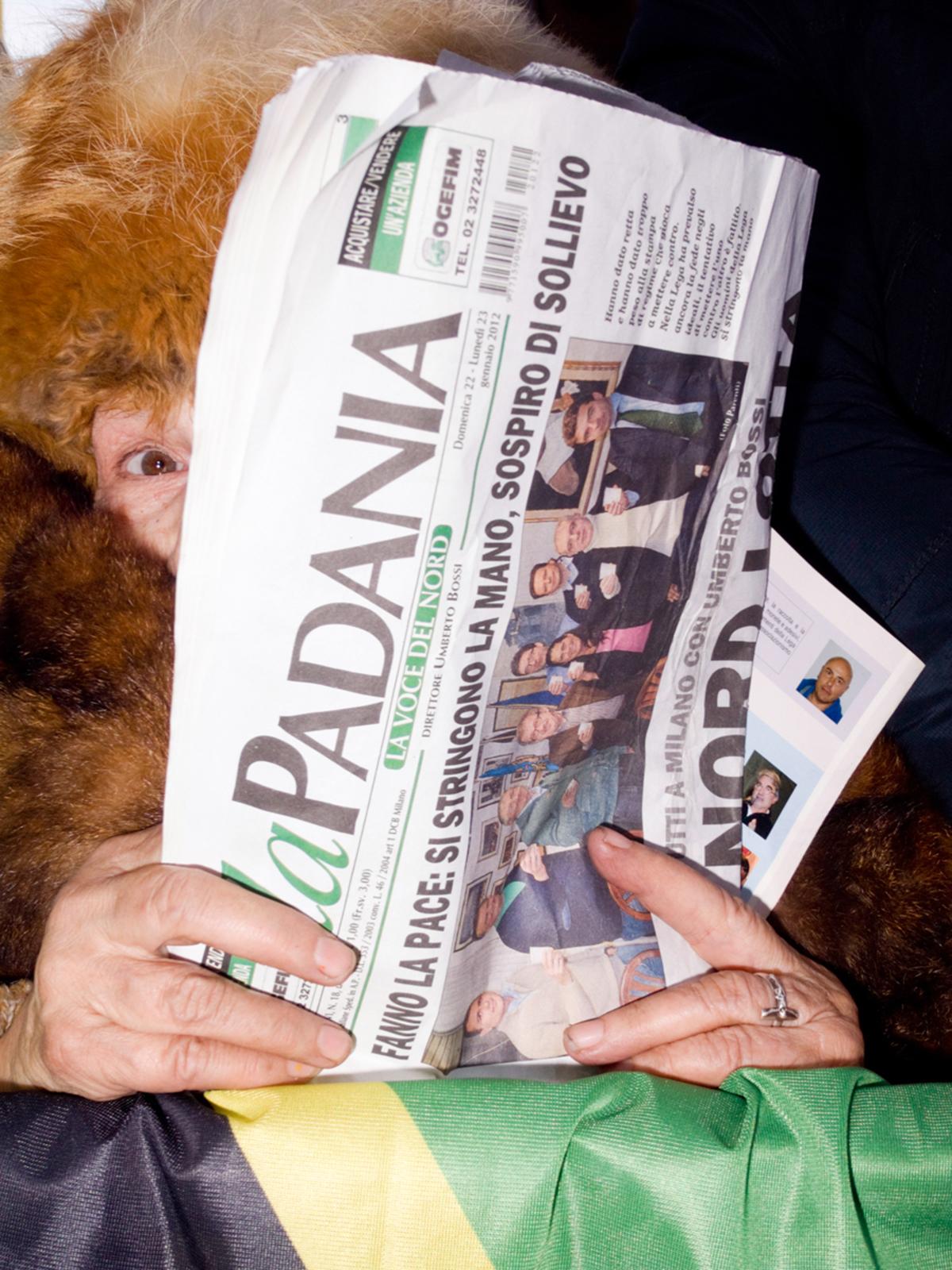 2012 01 22 Milano Italia Manifestazione Nazionale Lega Nord Governo Ladro