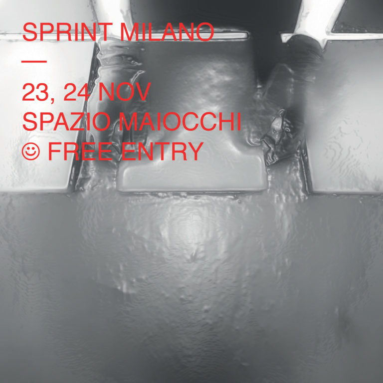 Join us at SPRINT Milano 7th Edition 23 → 24 November 2019