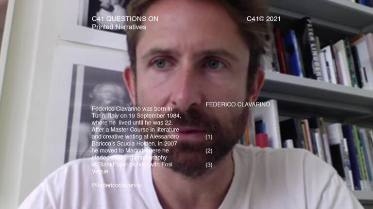 C41 Questions On: Printed Narratives with Federico Clavarino