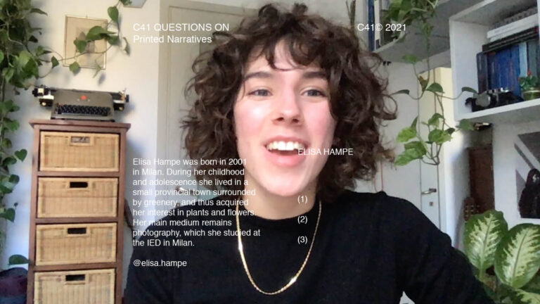 C41 Questions On: Printed Narratives with Elisa Hampe